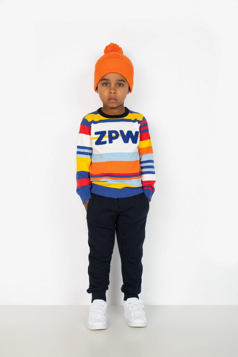 Muts met pompon - in oranje - Zulu Papuwa